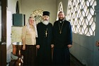 Mat. Graciela DiLeo (Fr. Peter's wife); center - Fr. Andrew; and on the right - Fr. Mark
