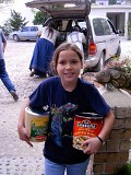 Youth Helping with Food Pantry