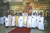 Clergy from Mexico & Texas with Visiting Archbishop DMITRI