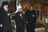 Archbishop Dmitri, Metropolitan Herman & Fr. Ernesto Rios at the Cathedral in Mexico City