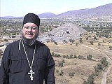 Fr. Antonio Perdomo at the Pyramid of the Sun in Mexico