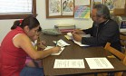 Recipients Fill Out Paperwork